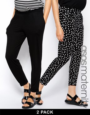 Asos maternity pants (2 pack)