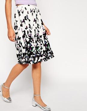 Asos butterfly print skirt