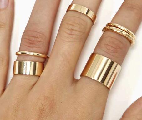 Nasty Gal rings (set of 5)
