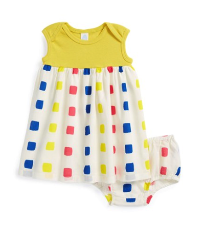 Stem Baby dress and bloomers