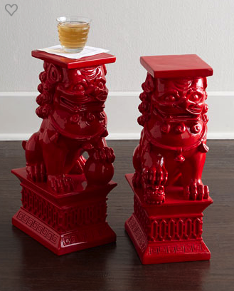 Foo dog side tables