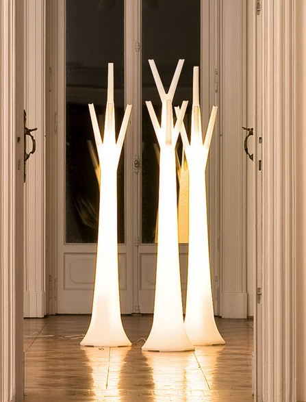 Coat rack floor lamps