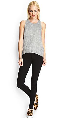 Forever 21 jeans - black, white & gray jeans