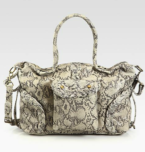 Not Rational leather diaper bag