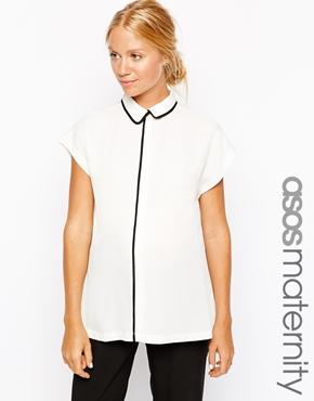 Asos maternity shirt - fabulous maternity style
