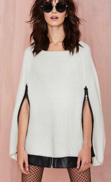 Nasty Gal sweater cape