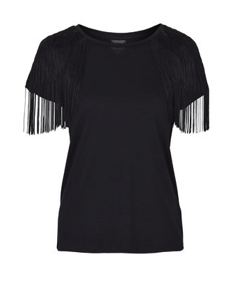Topshop fringed tee