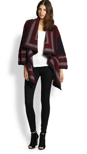 Burberry blanket jacket