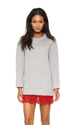 MSGM sweatshirt dress with red lips