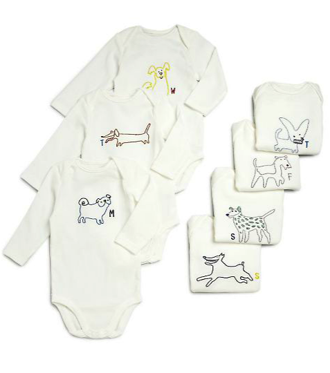 Stella McCartney Kids 7 piece onesie gift set