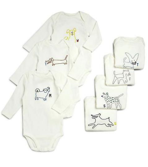 Stella McCartney Kids 7 piece onesie gift set