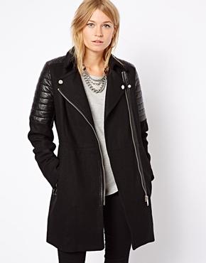 Mango biker coat