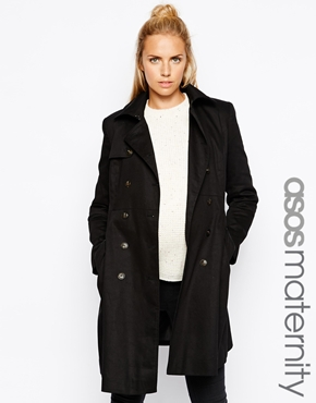 Asos maternity trench
