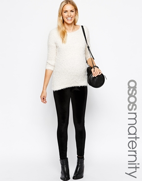 Asos maternity velvet leggings