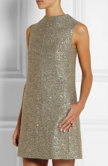 Saint Laurent sequin tweed dress