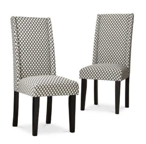 wingback dining chairs (set of 2)