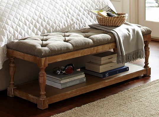 Cassandra upholstered storage bench