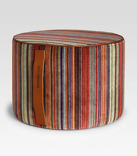 Missoni pouf - child proof furniture