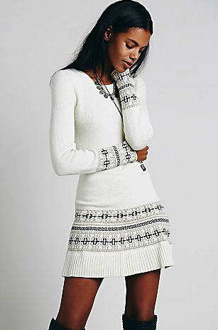 Free People sweater dress - winter white