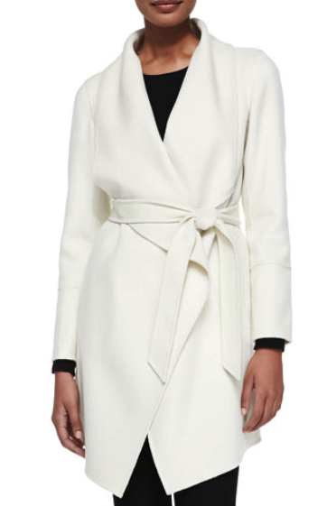 Neiman Marcus cashmere wrap coat
