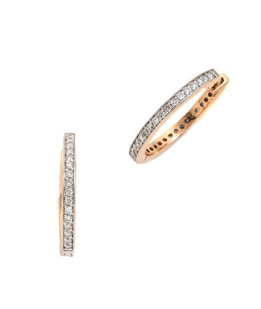 Kismet by Milka diamond hoop earrings