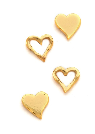 Gorjana friendship heart studs