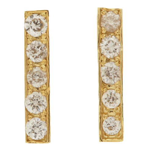 Jennifer Meyer diamond bar studs