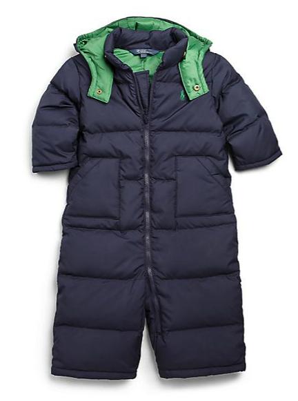 Ralph Lauren puffer snowsuit