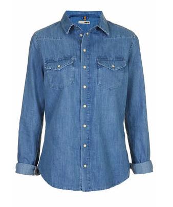 Topshop chambray shirt - fall fashion for less