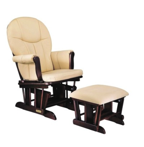 Danielle Deluxe sleigh glider and ottoman set