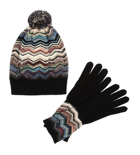 Missoni hat and gloves set