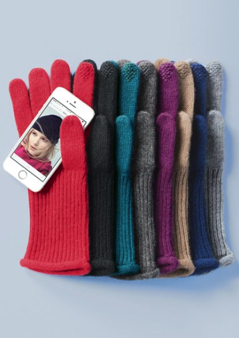Halogen cashmere touch tech gloves