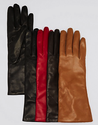 Bloomingdales cashmere lined leather gloves