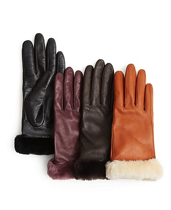 UGG Australia leather tech gloves