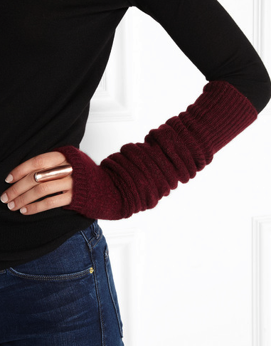 The Elder Statesman cashmere fingerless gloves