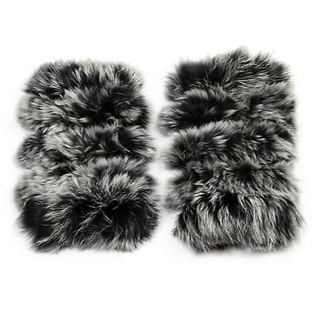 Jocelyn rabbit fur fingerless mittens - cold weather accessories
