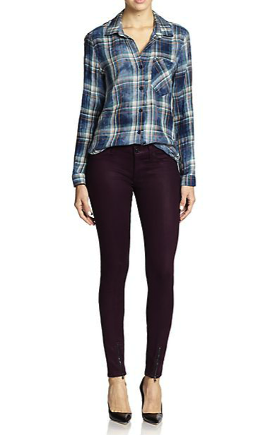 Hudson coated skinny jeans
