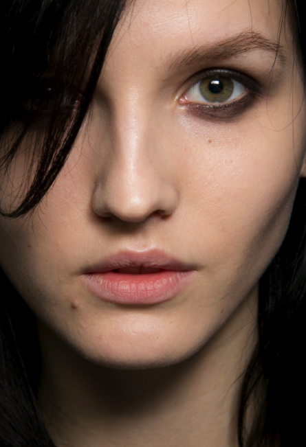 The slept in smoky eye at Tom Ford's fall 2014 show (from style.com photo by: Antonello Trio)