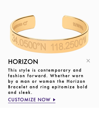Coordinates Collection personalized rings, bracelets and necklaces