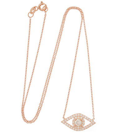 Susan Hanover evil eye necklace