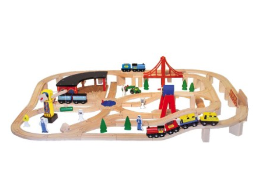 Melissa and Doug deluxe railway set