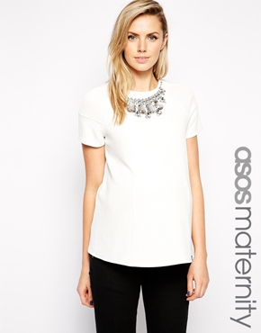 Asos embellished maternity top