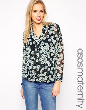 Asos maternity blouse