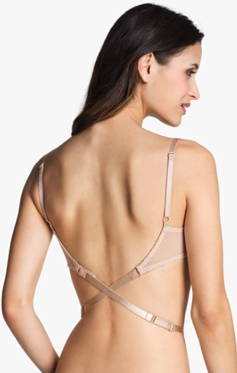Nordstrom Intimates low back bra strap attachment