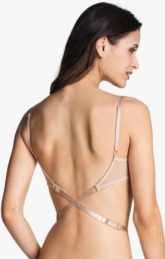 Nordstrom Intimates low back bra strap attachment