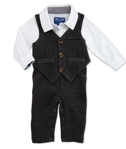 Andy & Evan pants and vest set