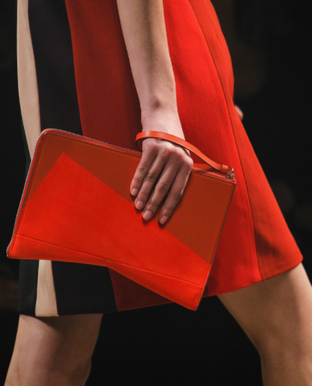 Nude nails at the Narciso Rodriguez f/w '14 collection (photo by: Gianni Pucci for style.com)