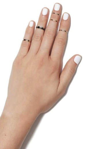 Nasty Gal midi ring set of 12