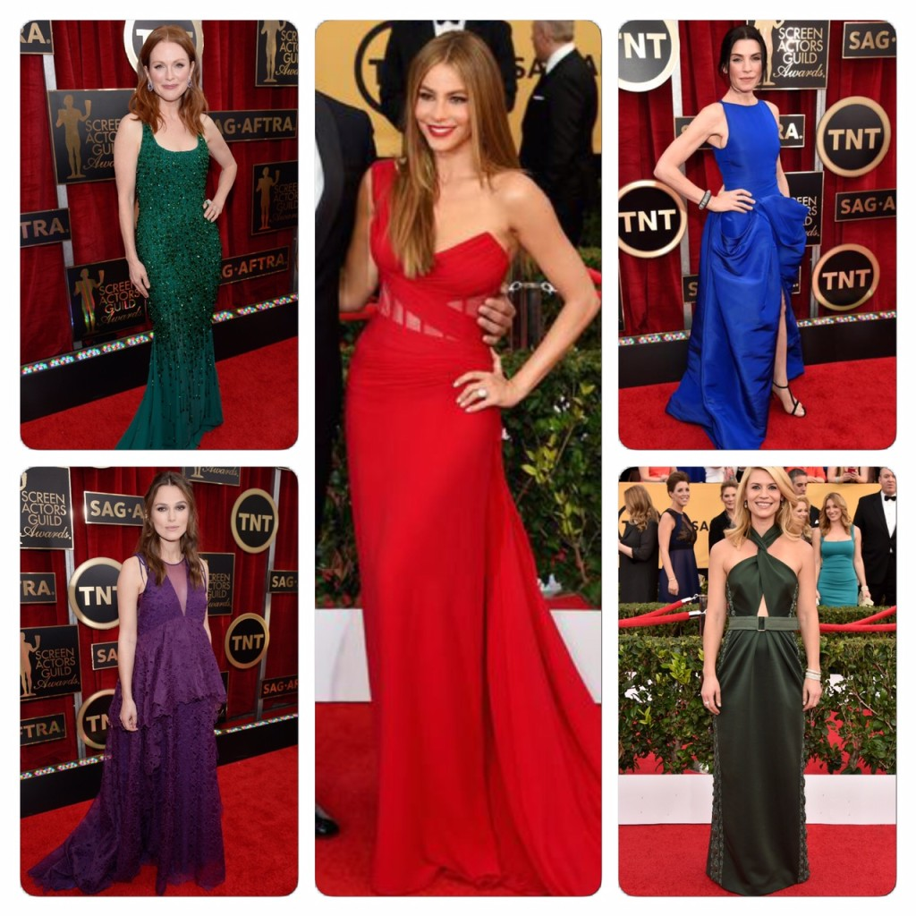 Sag awards - jewel tone dresses