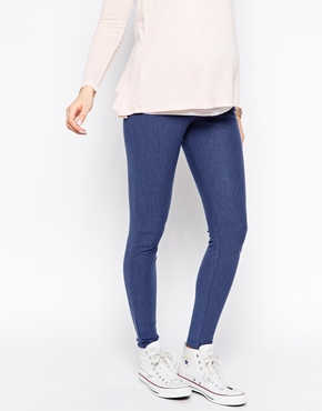 Asos denim look maternity leggings